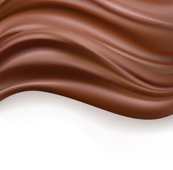 creamy chocolate over white background. sweet food design