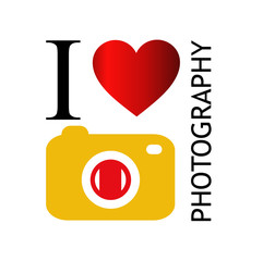 I love photography with yellow camera
