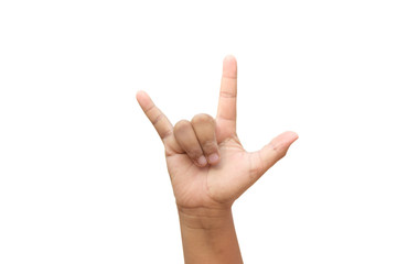 Hand Gesture for I love you