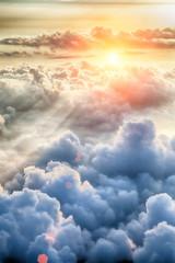 Obraz Beautiful blue sky background - fototapety do salonu