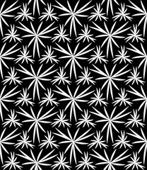 Vector modern seamless geometry pattern floral, black and white abstract geometric background, pillow print, monochrome retro texture, hipster fashion design