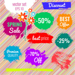Blots, stains to label, discount, best price.