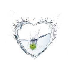 heart water with splash