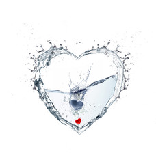 heart water with splash