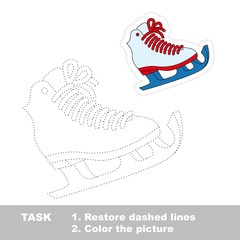 Skates to be traced. Vector trace game.