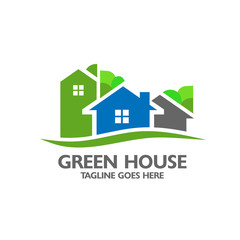 Eco house with green tree background