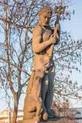 Statue Neptun auf der Puppenbrücke Lübeck Schleswig-Holstein