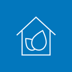 Eco-friendly house line icon.