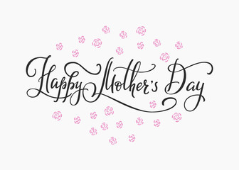 Happy Mothers day simple typography