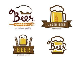 vector beer logos