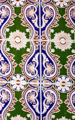 Moroccan mosaic tile, ceramic decoration