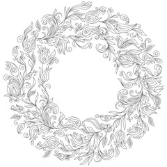 Pattern for coloring book.