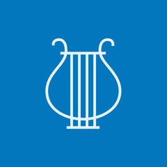 Lyre line icon.