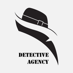 Detective Agency. Elements for creating logos, emblems, signs.