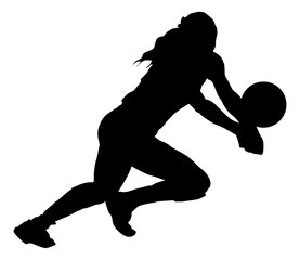 volleyball silhouette female
