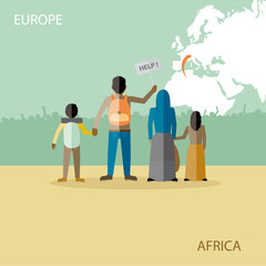 Refugees migration from Africa to Europe, Imigration political theme