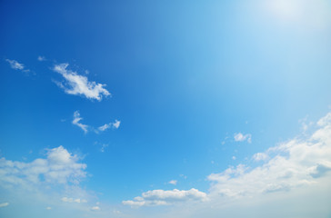 cloudscape in blue and white