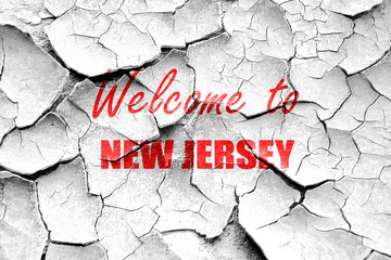 Grunge cracked Welcome to new jersey