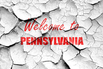 Grunge cracked Welcome to pennsylvania