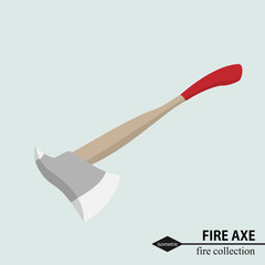 Axe to deal with obstacles in the fire situation. Isometric