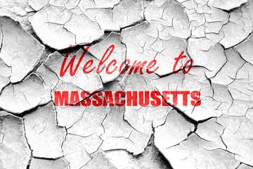 Grunge cracked Welcome to masschusetts