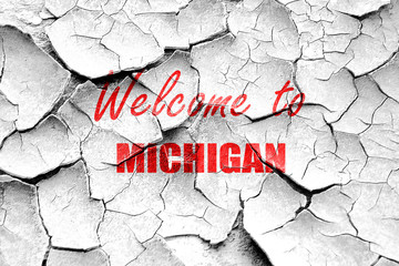 Grunge cracked Welcome to michigan