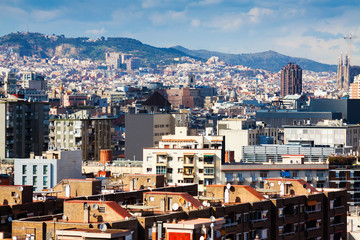 kind of Barcelona from Montjuic