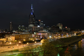 Aufkleber - Downtown Nashville at Night