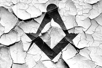 Grunge cracked Masonic freemasonry symbol