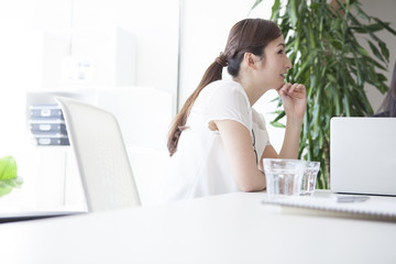 Women who are working in the office