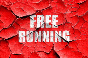 Grunge cracked free running sign background