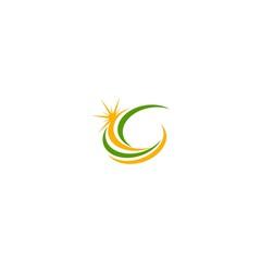 sun swirl abstract logo