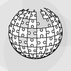 Puzzle icon design, Vector illustration