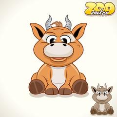 Cartoon Antelope. Vector Character