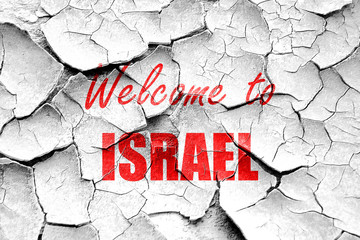 Grunge cracked Welcome to israel