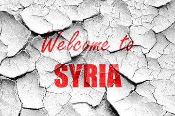 Grunge cracked Welcome to syria