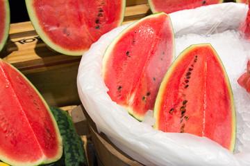 Slice watermelons.