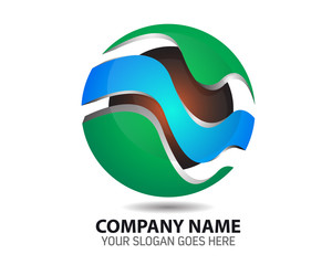 Natural Energy Resource Company Logo Icon Vector Template