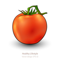 Tomato with realistic look