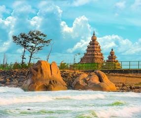 beautiful landscape of monolithic famous Shore Temple near Mahab