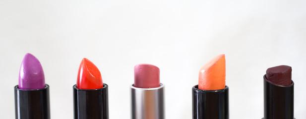 multi color of lipstick