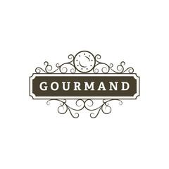 Gourmand. Restaurant banner