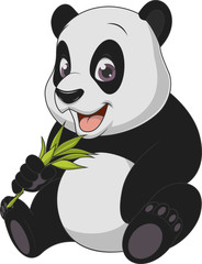 Little funny bear panda