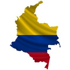 コロンビア  国旗 地図 アイコン