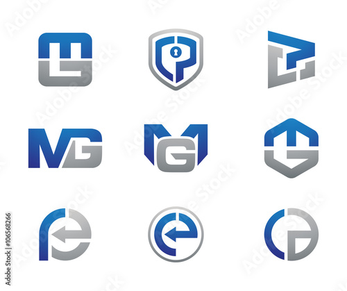 Business consulting logo set stock image and royalty for Consulting company logo