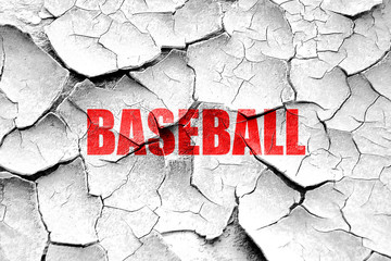 Grunge cracked baseball sign background