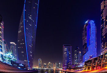 Fototapete - Modern buildings in Dubai Marina, Dubai, UAE