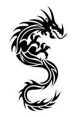 Dragon Tattoo Black