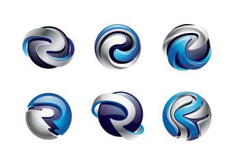 After Effects- 3D Twitter logo Element 3D