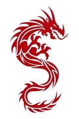Dragon Tattoo Red